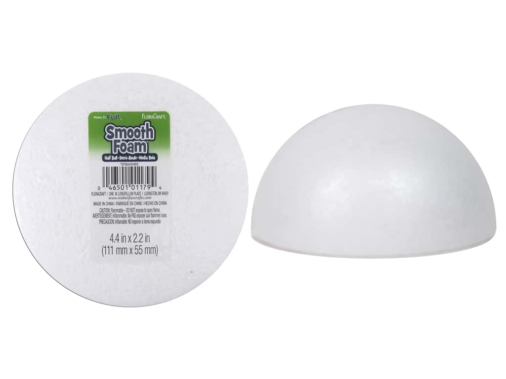 FloraCraft Smooth Foam Half Ball 4 1/2 in. 1 pc.