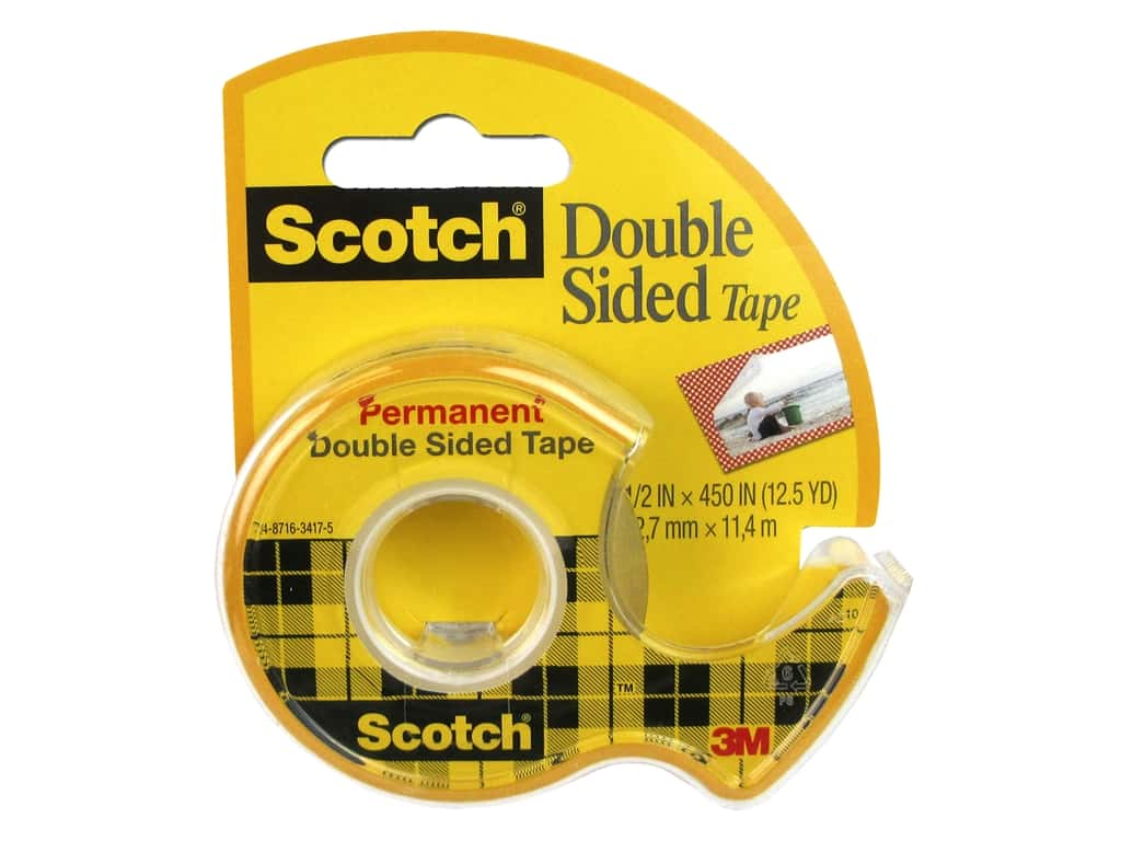 Scotch Tape Double Sided Permanent Tape .5 in. x 450 in.