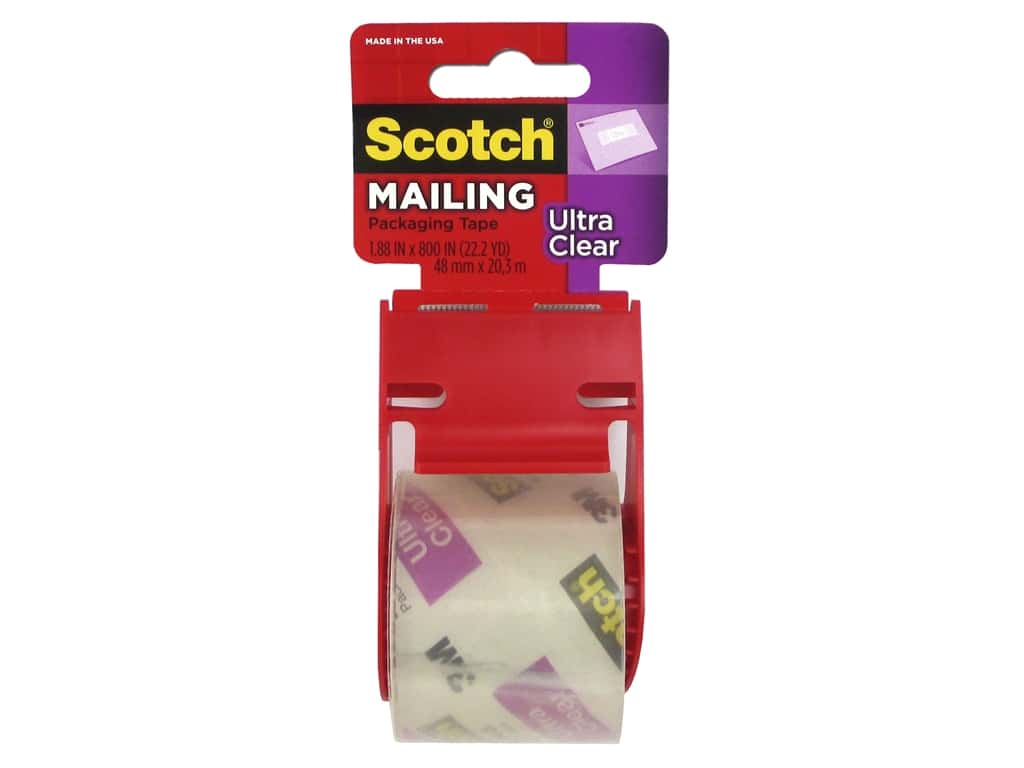 Scotch Mailing Tape 1 7/8  in. x 800 in. Clear with Dispenser