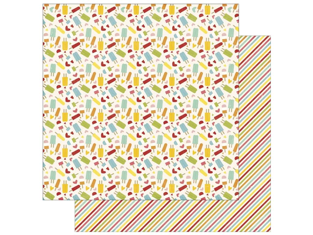 Echo Park 12 x 12 in. Paper Happy Summer Collection Sweet Treats (25 sheets)