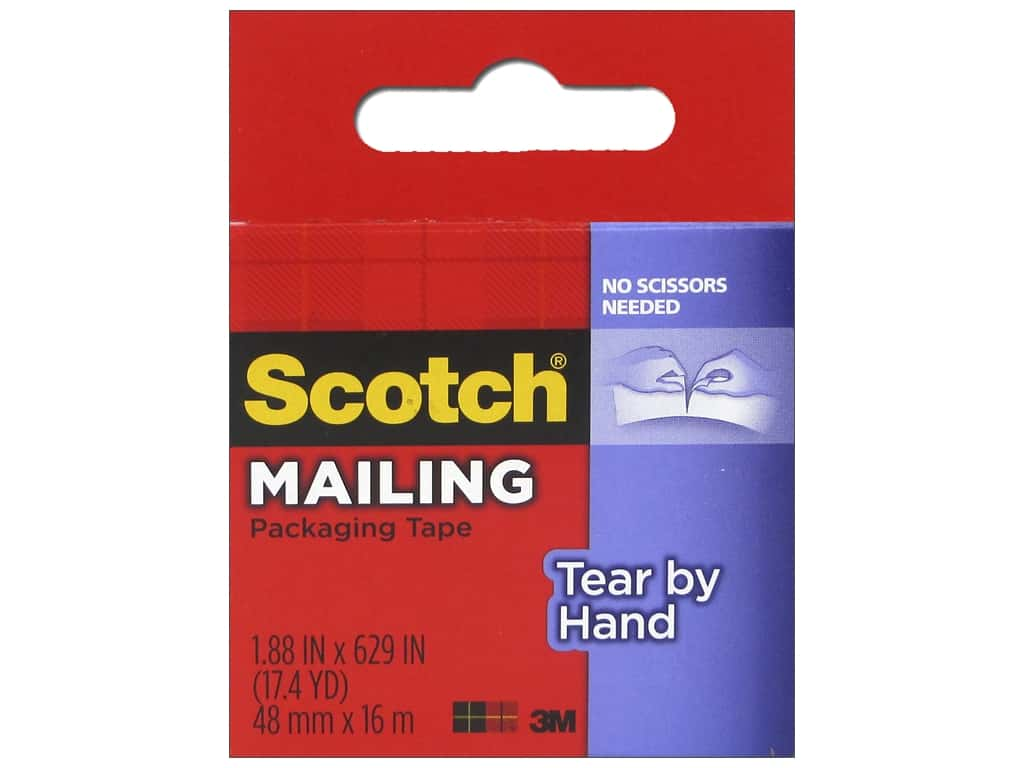 Scotch Tape Tear-By-Hand Packaging Clear 629 in.