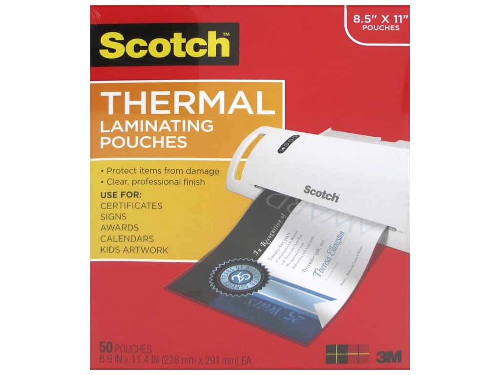Scotch Laminating Pouch Thermal 8.5 in. x 11 in.  50 pc