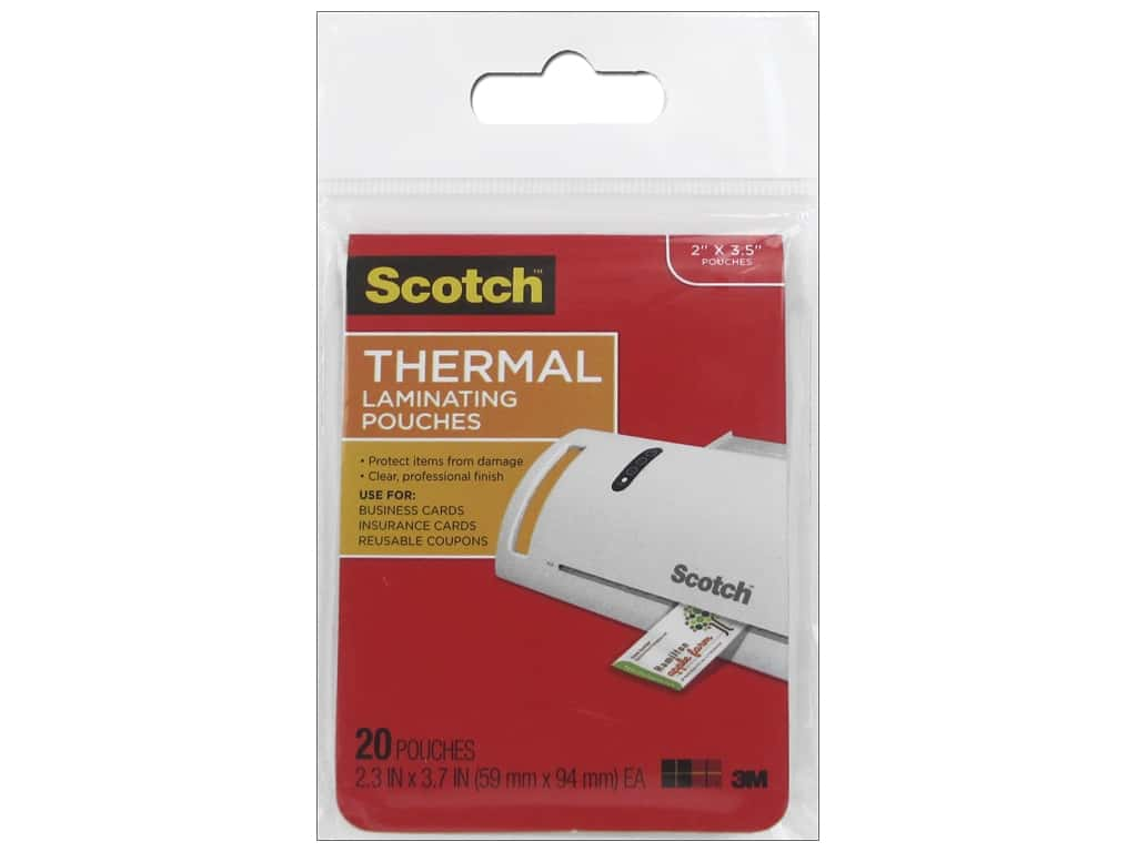 Scotch Laminating Pouch Thermal Business Card 20 pc