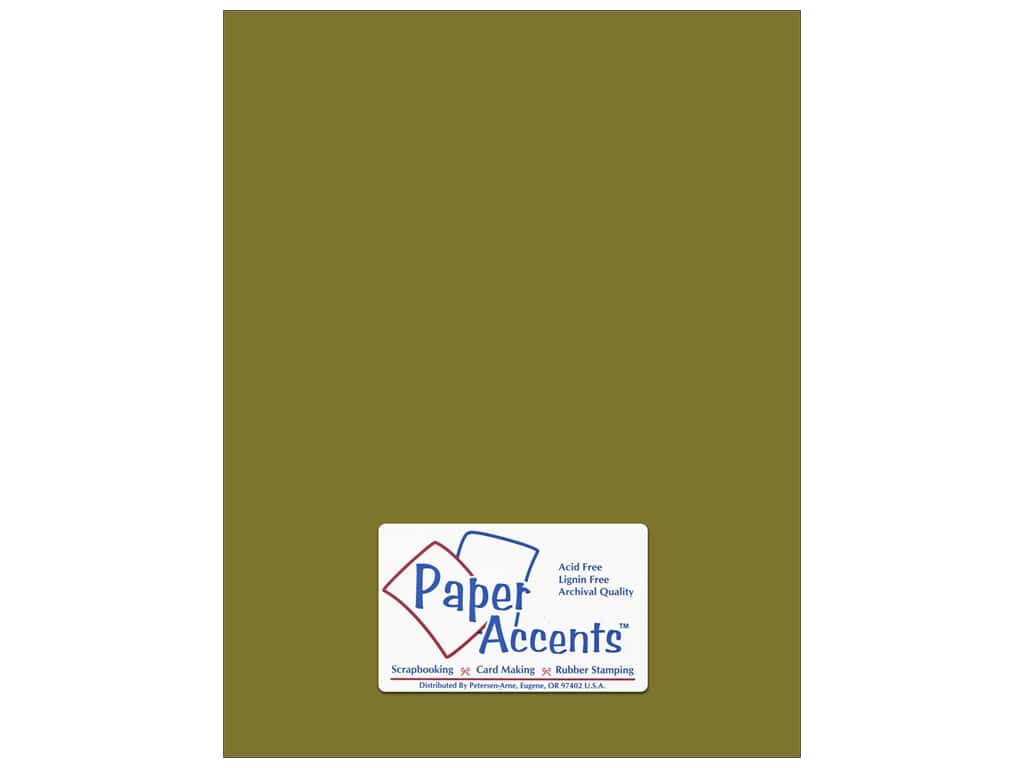 Paper Accents Cardstock 8 1/2 x 11 in. #8020 Muslin Olive Drab 25 pc.