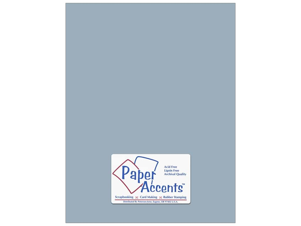 Paper Accents Cardstock 8 1/2 x 11 in. #8039 Muslin Evening Sky 25 pc.