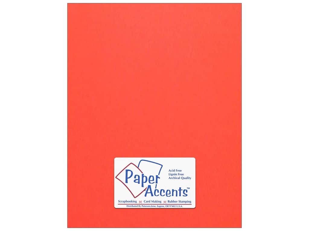 Paper Accents Cardstock 8 1/2 x 11 in. #174 Smooth Lipstick 25 pc.