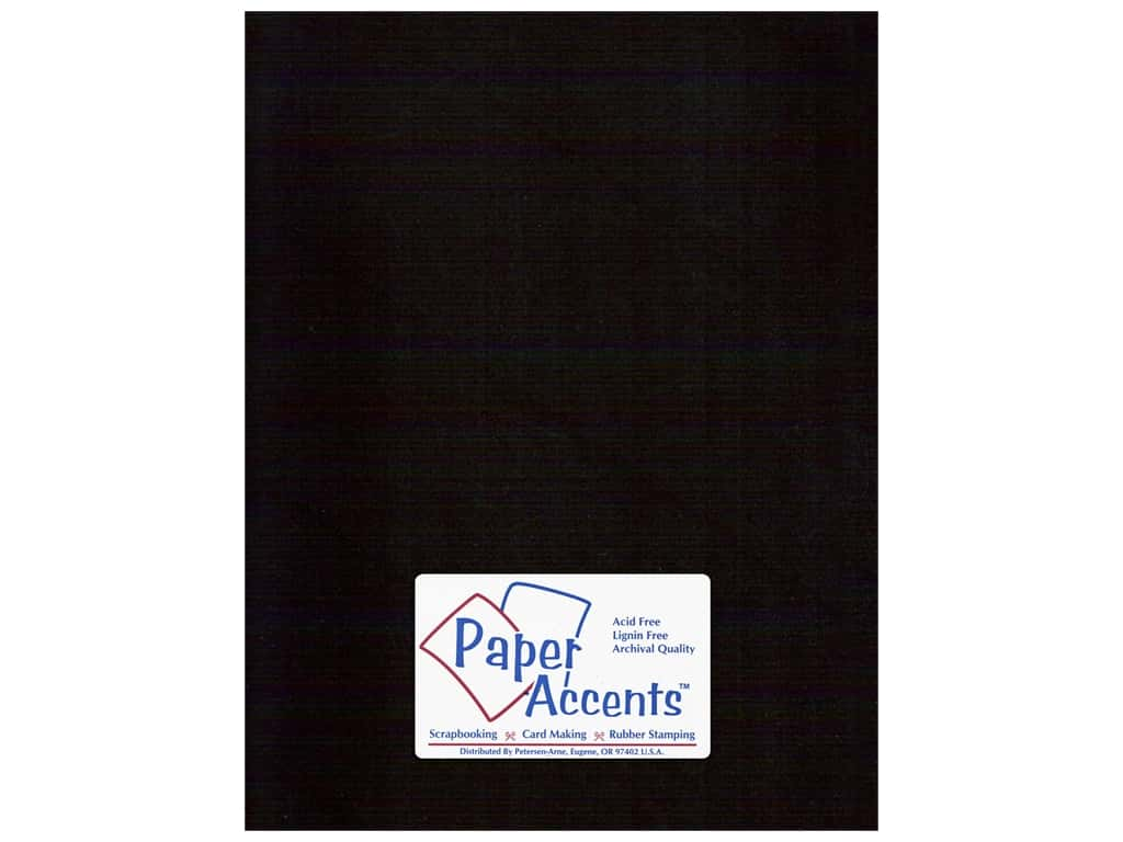 Paper Accents Cardstock 8 1/2 x 11 in. #10067 Stash Builder Ebony (25 sheets)