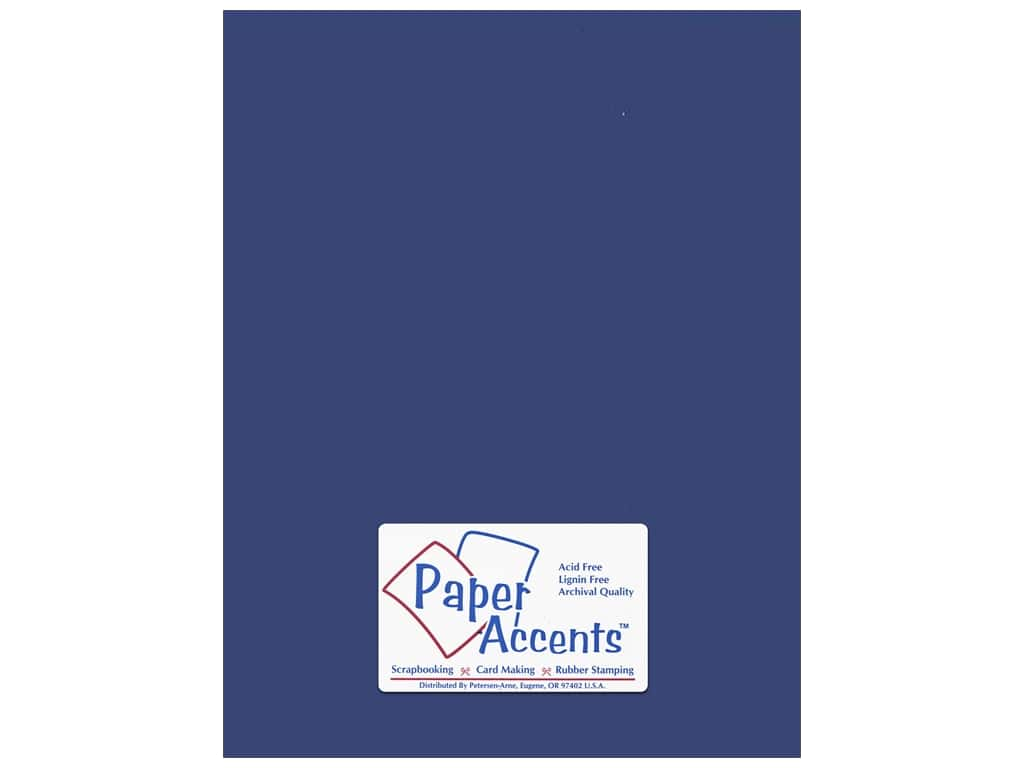 Paper Accents Cardstock 8 1/2 x 11 in. #153 Smooth Lapis 25 pc.