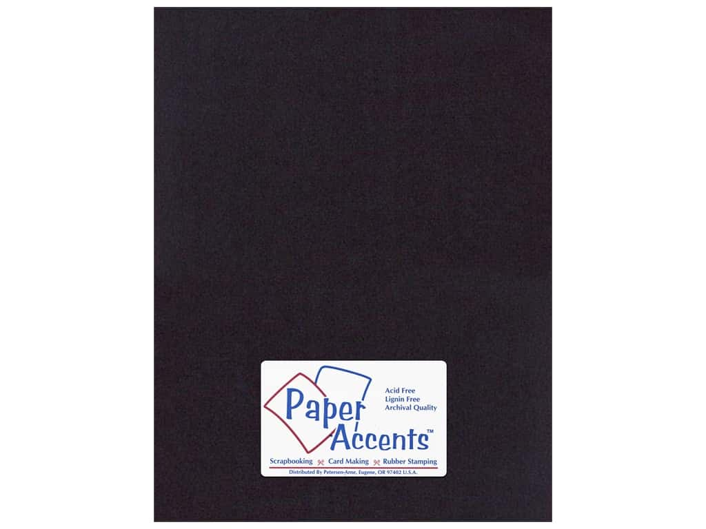 Paper Accents Cardstock 8 1/2 x 11 in. #410 Linen Black (25 sheets)