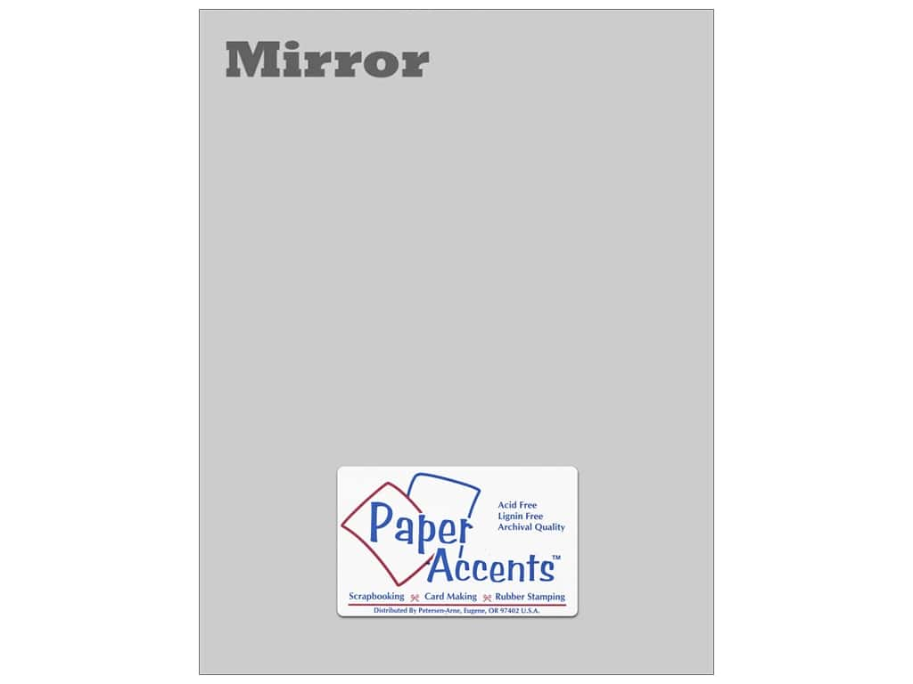 Cardstock 8 1/2 x 11 in. Mirror Silver by Paper Accents (25 sheets)