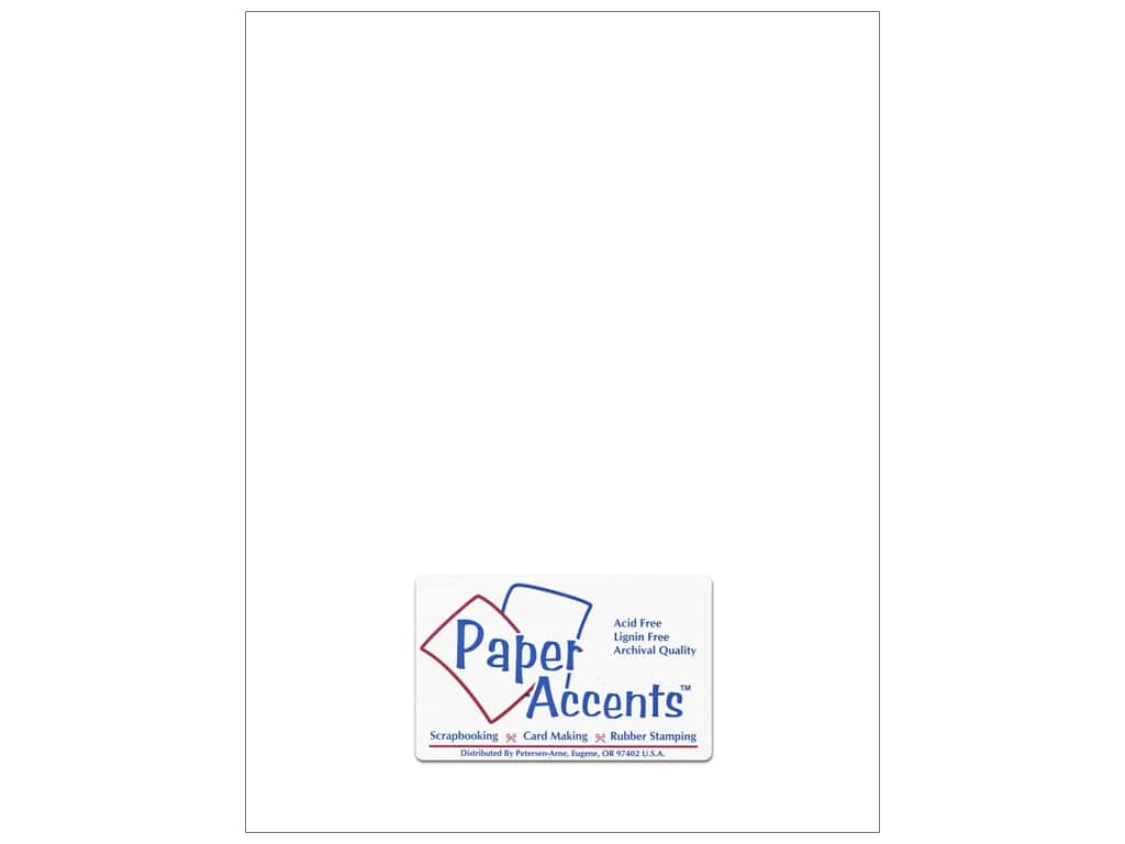 Paper Accents Cardstock 8 1/2 x 11 in. #201 Parchment White 25 pc.