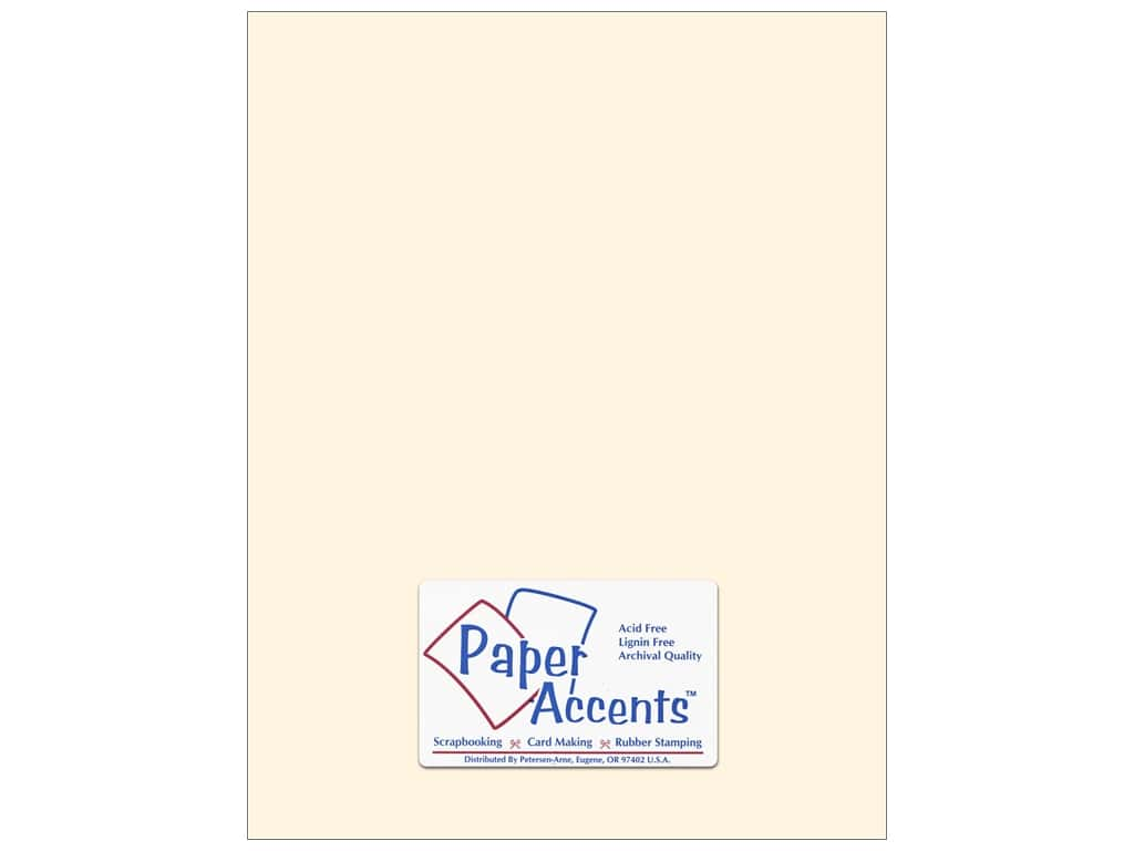 Paper Accents Cardstock 8 1/2 x 11 in. #202 Parchment Cream 25 pc.