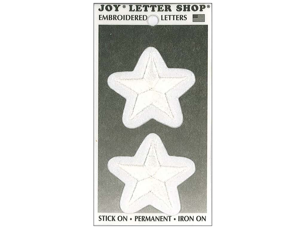 Joy Lettershop Iron-On Embroidered Star 1 1/2 in. White