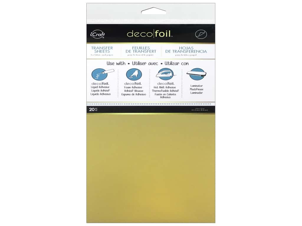 iCraft Deco Foil Sheet 6 x 12 in. 20 pc. Gold