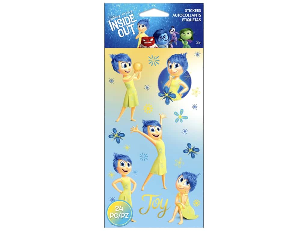 EK Disney Sticker Inside Out Joy Flat