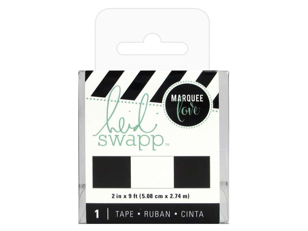Heidi Swapp LightBox Tape 2 in. Black & White Stripe