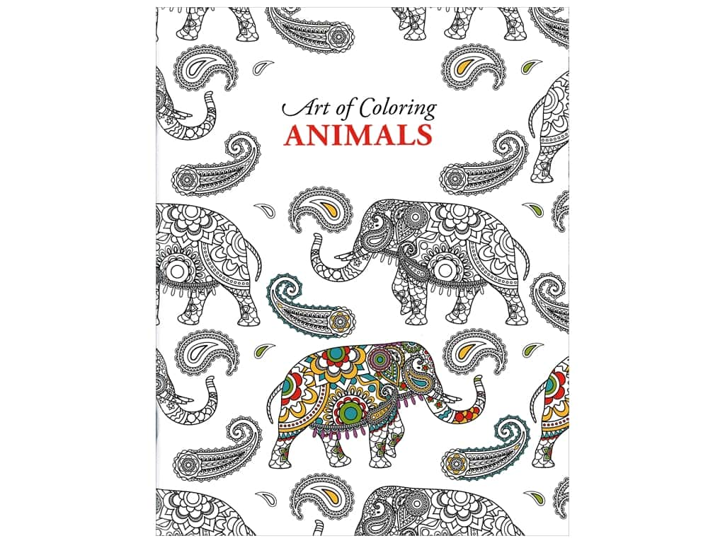 Leisure Arts Art of Coloring Animals Coloring Book