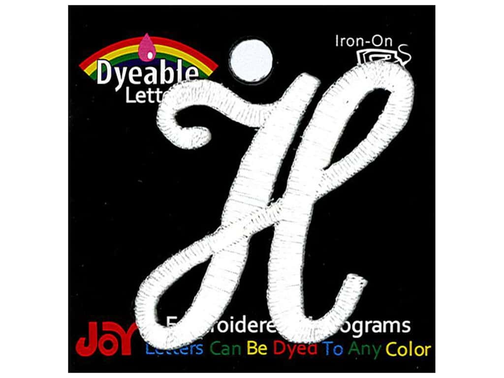 """Joy Lettershop Iron-On Embroidered Letter 1 1/2 in. Script """"A"""" Black"""
