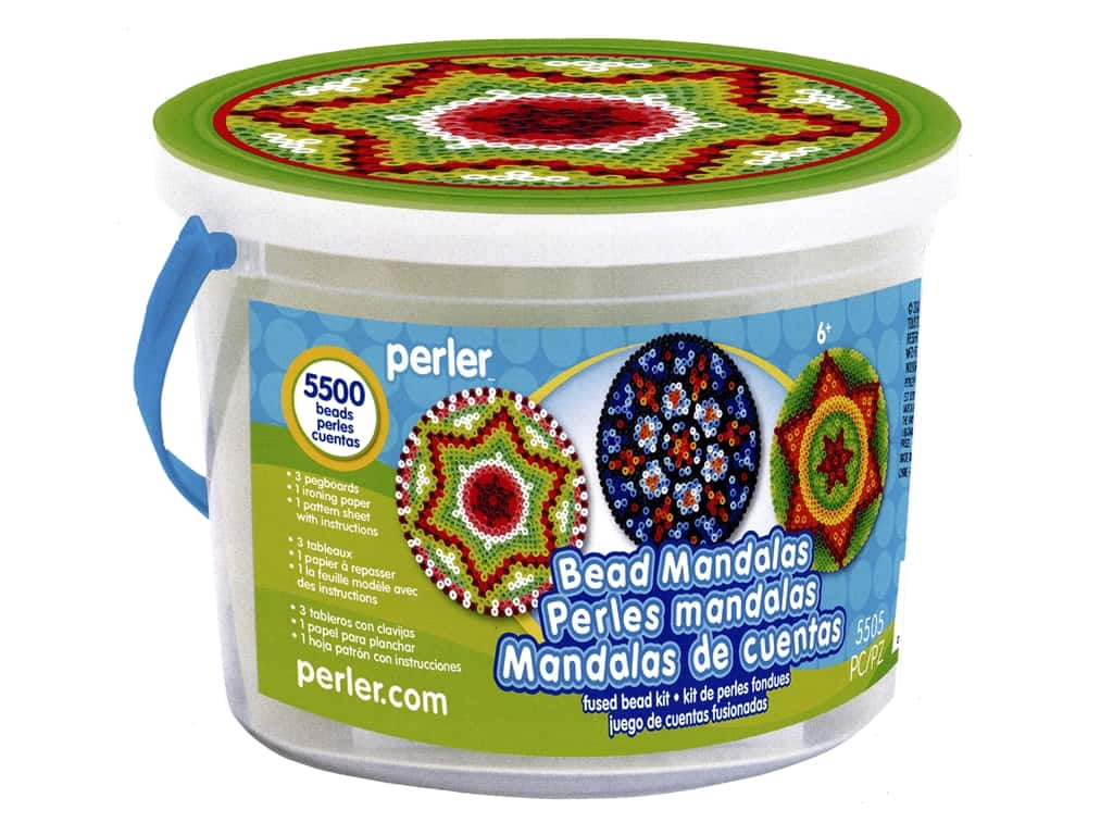 Perler Fused Bead Kit Bucket Mandalas 5500pc