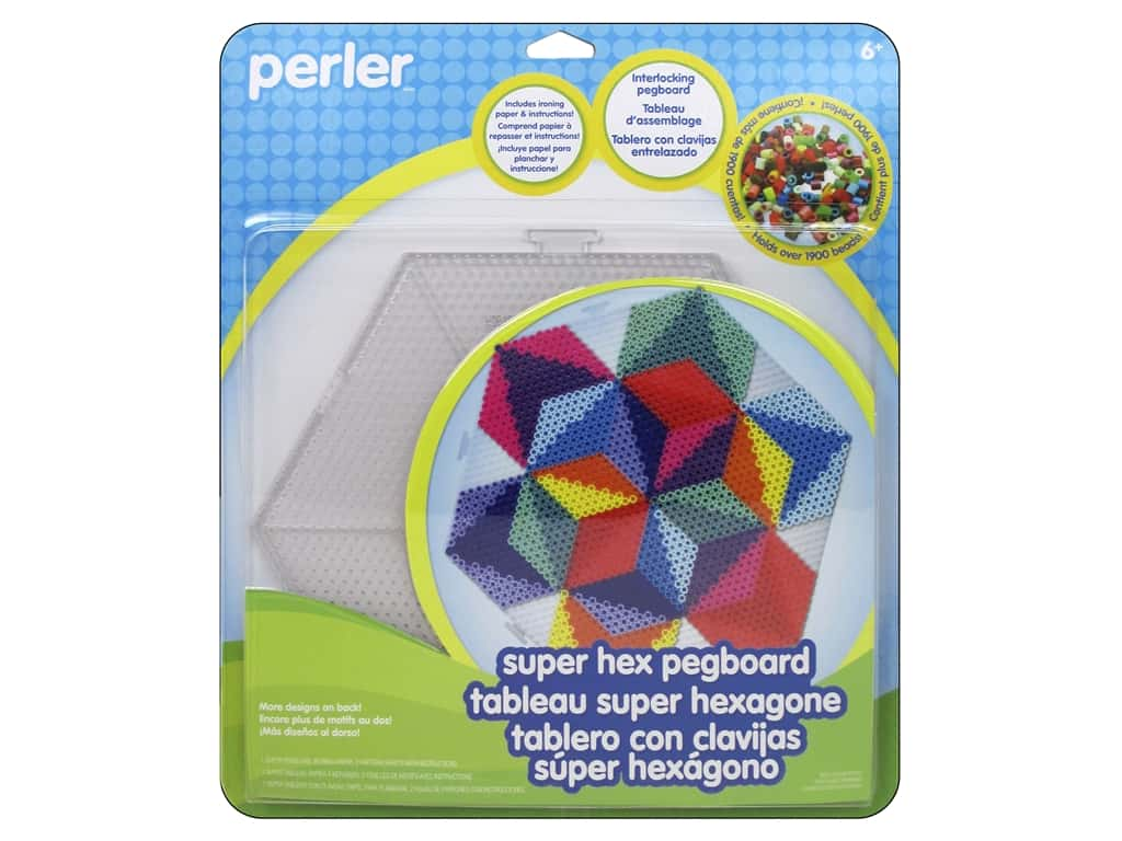 Perler Super Hexagon Clear Pegboard