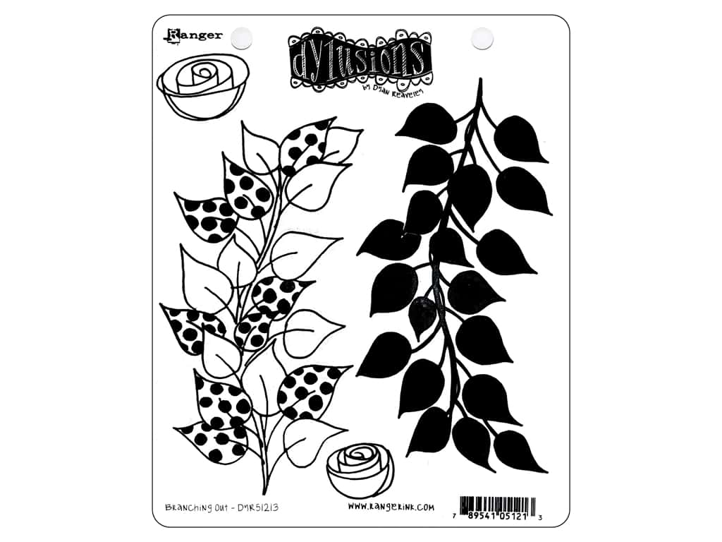 Ranger Stamp Dylusions Cling Branching Out