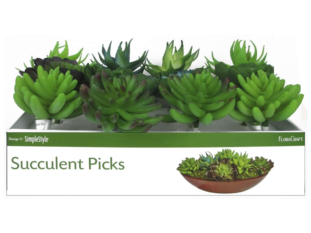 Floracraft SimpleStyle Succulent Pick X Large PDQ (12 pieces)