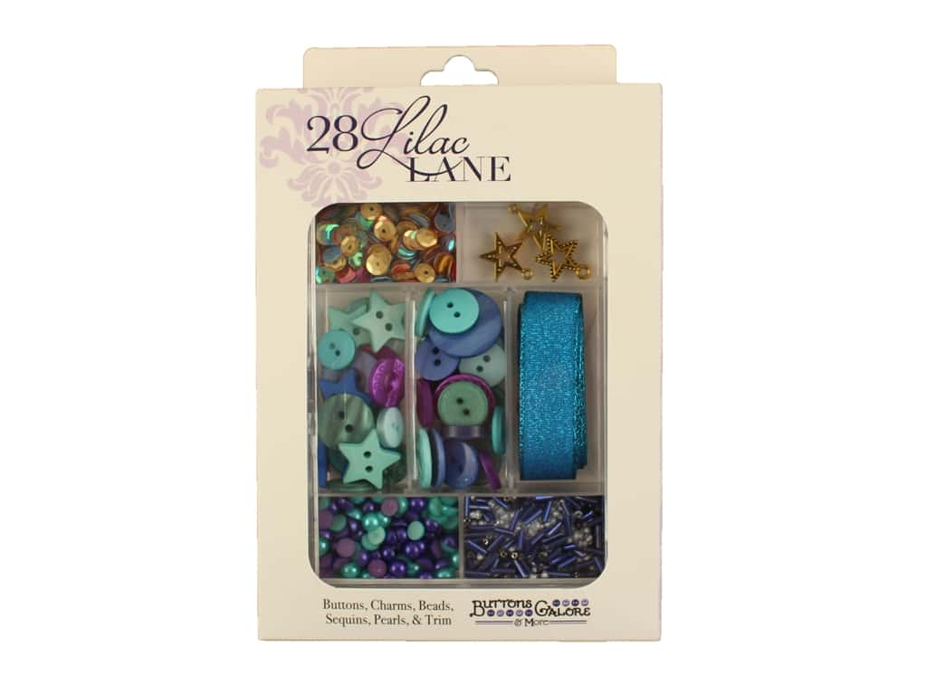 Buttons Galore 28 Lilac Lane Embellishment Kit Party On