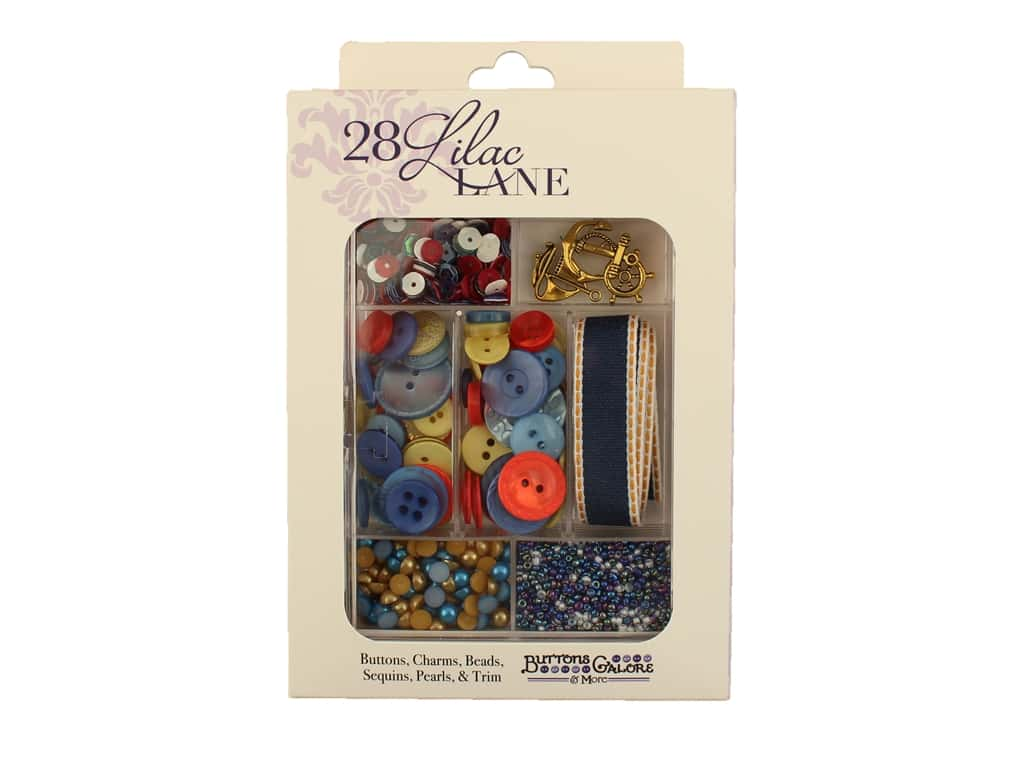 Buttons Galore 28 Lilac Lane Embellishment Kit Adventure At Sea