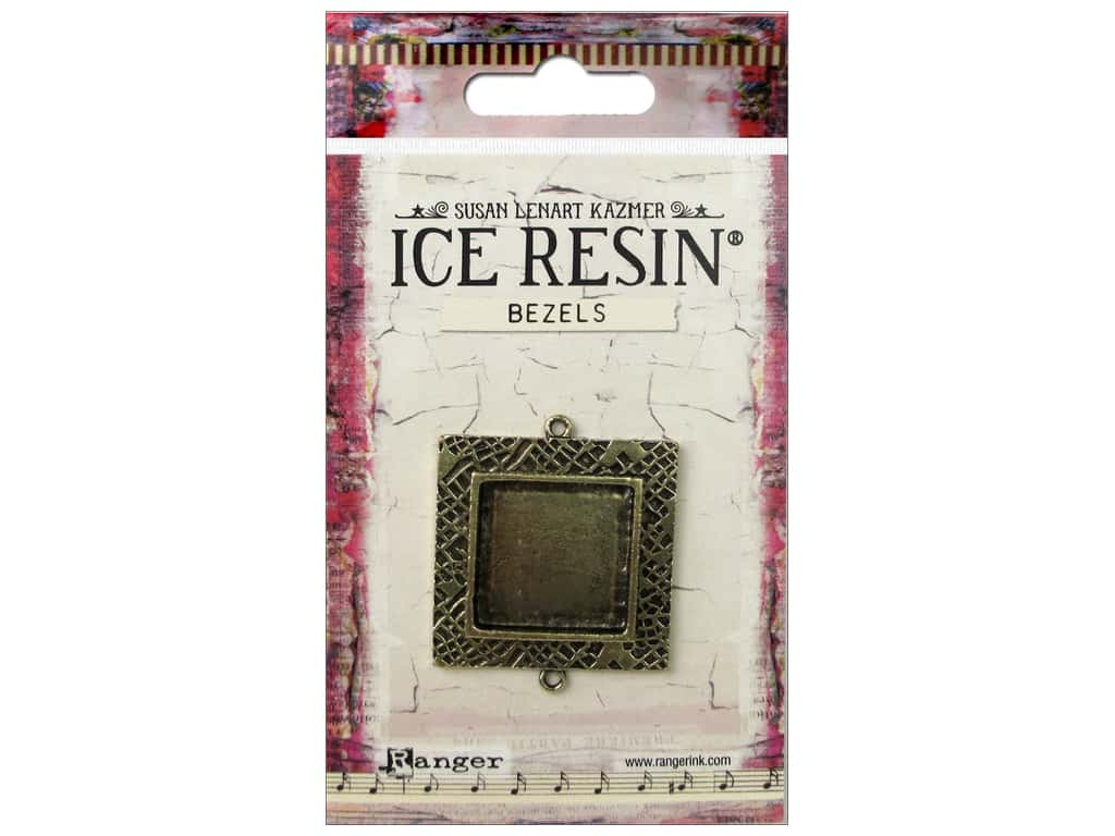 Ranger ICE Resin Milan Bezels 1 pc. Medium Square Antique Bronze