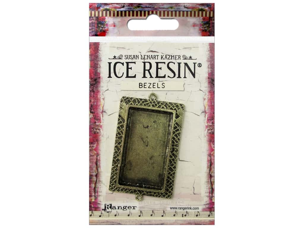 Ranger ICE Resin Milan Bezels 1 pc. Large Rectangle Antique Bronze