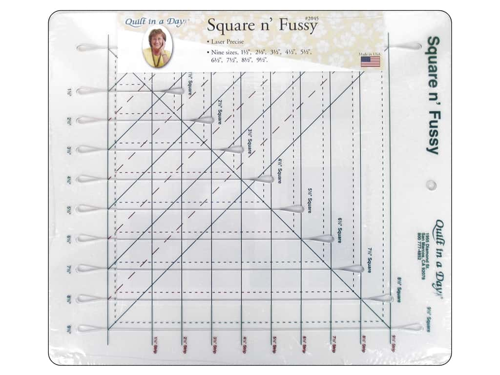 Quilt In A Day Ruler Square n' Fussy Cut
