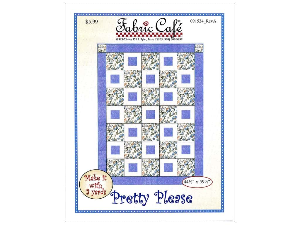 Fabric Cafe Pretty Please Pattern