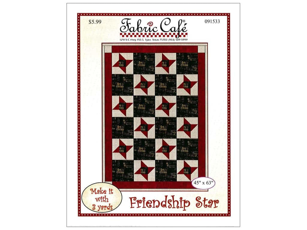 Fabric Cafe Friendship Star Pattern