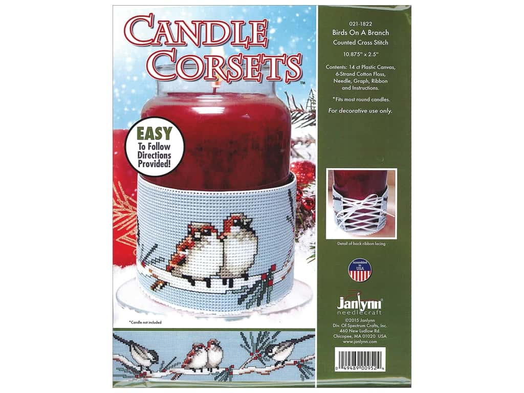 Janlynn Cross Stitch Kit Candle Corset Birds On A Branch