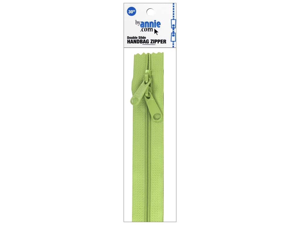 By Annie Handbag Zippers Double Slide 30 in. Chartreuse