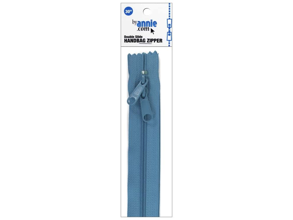 By Annie Handbag Zippers Double Slide 30 in. Parrot Blue