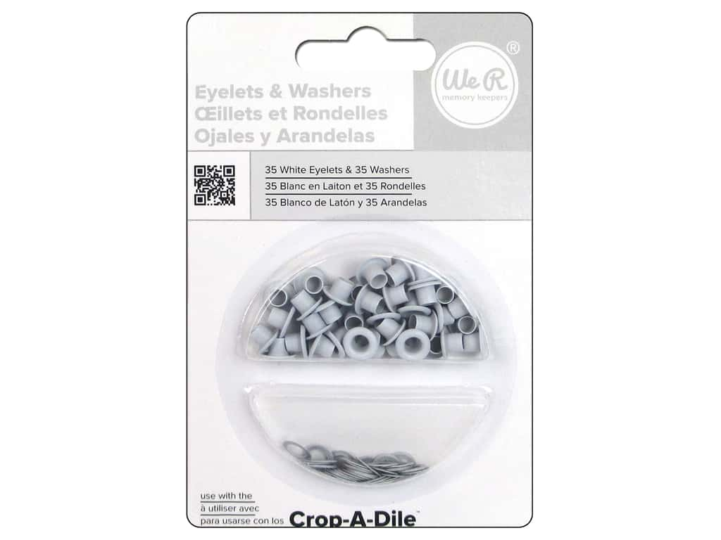 We R Memory Keepers Standard Eyelets 35 pc. White