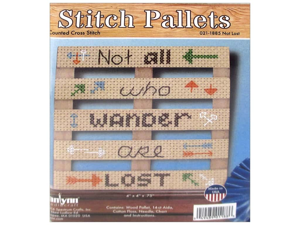 Janlynn Cross Stitch Kit Stitch Pallets Not Lost
