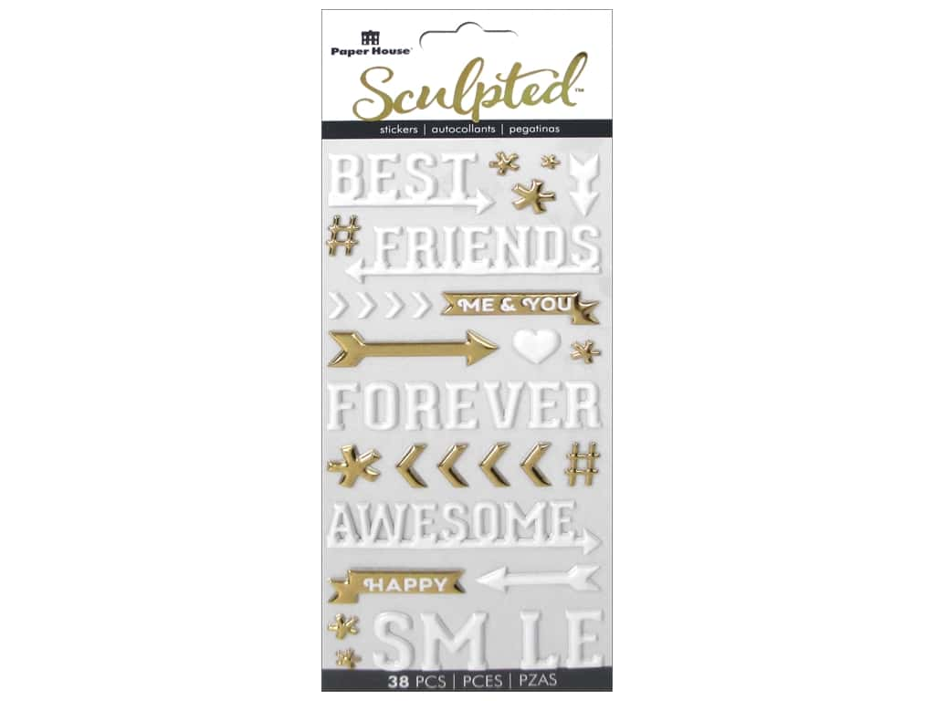 Paper House Sculpted Stickers - Best Friends