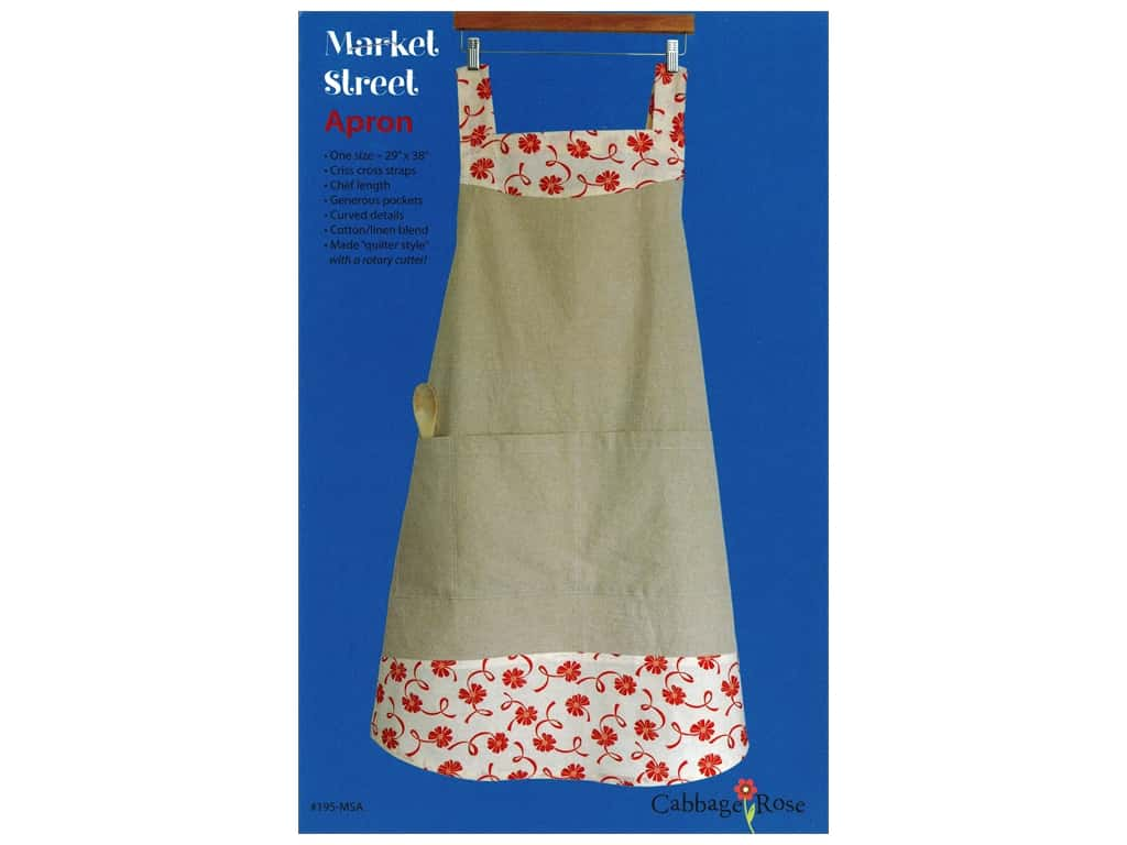 Cabbage Rose Market Street Apron Pattern