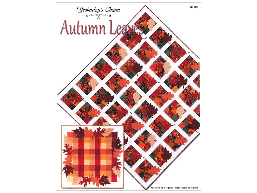 Yesterday's Charm Autumn Leaves Pattern