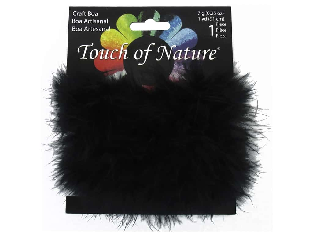 Midwest Design Fluffy Craft Marabou Feather Boa 1 yd. Black