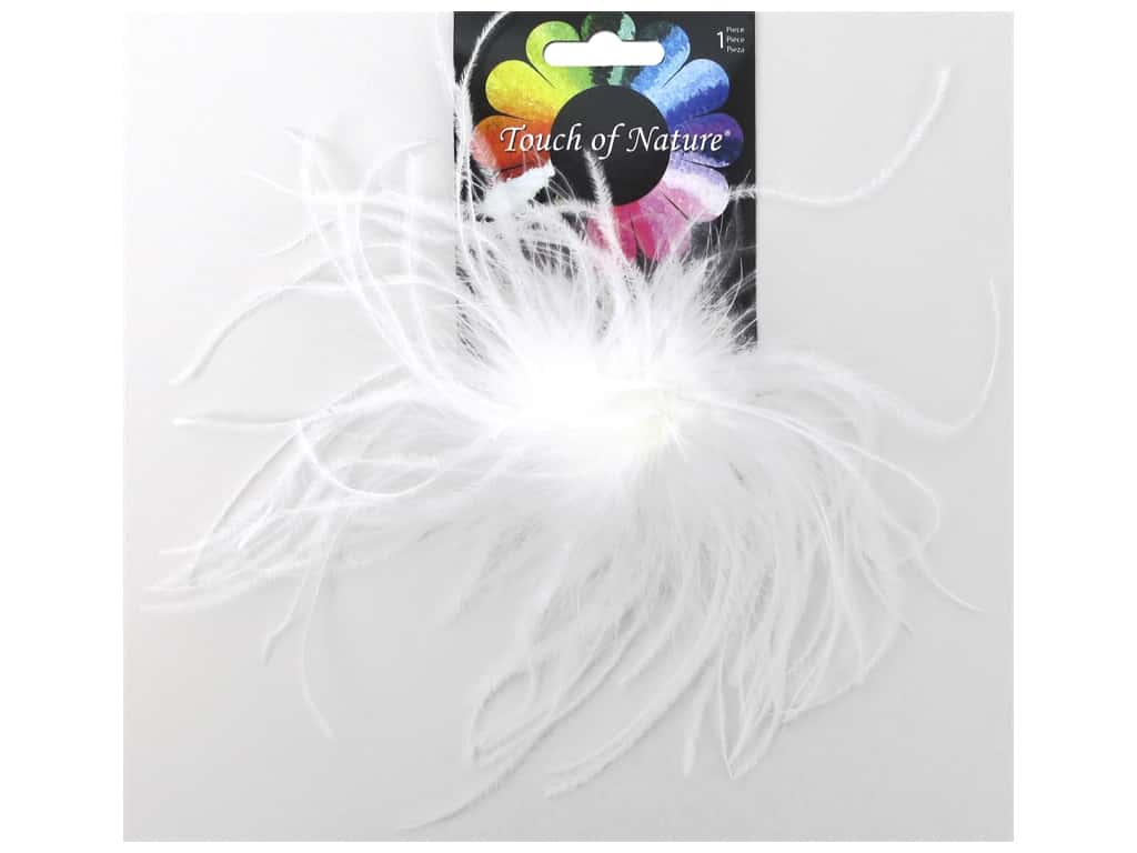 "Midwest Design Clip Ostrich Fluffy 4"" White"