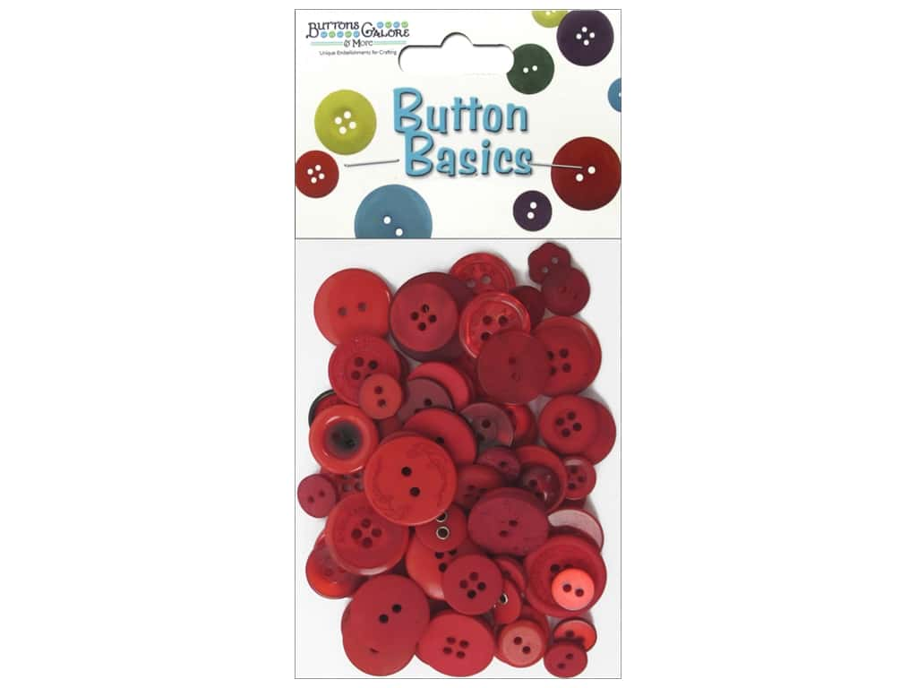 Buttons Galore Button Candy Bags 3 oz. Red