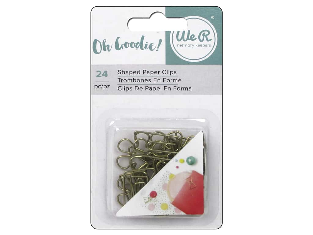 We R Memory Keepers Oh Goodie Shaped Paper Clips