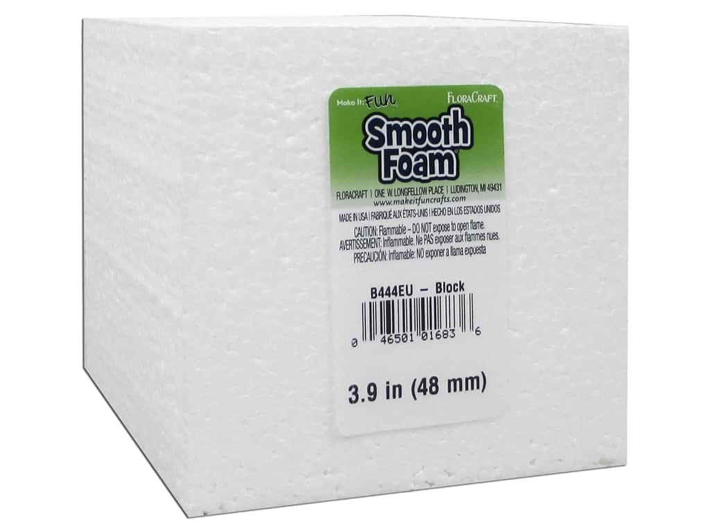 FloraCraft Smooth Foam Block 4 x 4 x 4 in.