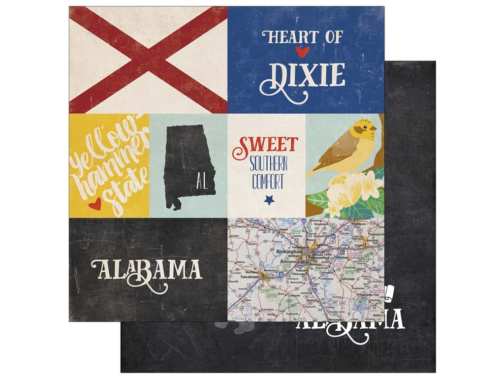 Echo Park 12 x 12 in. Paper Stateside Alabama (25 sheets)