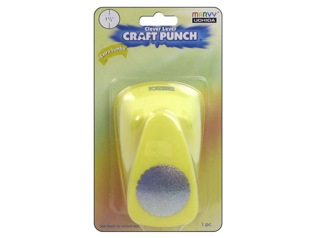 Uchida Clever Lever Extra Jumbo Craft Punch 1 1/2 in. Scallop Circle