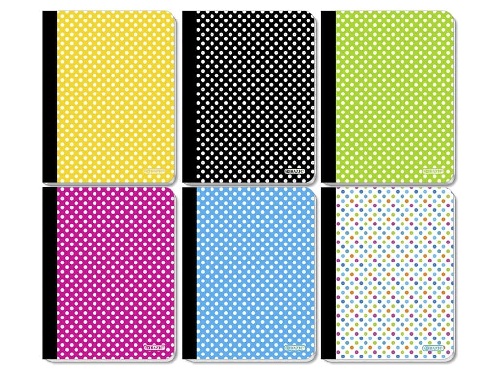 Bazic Composition Book Polka Dots Assorted 100 Sheet College