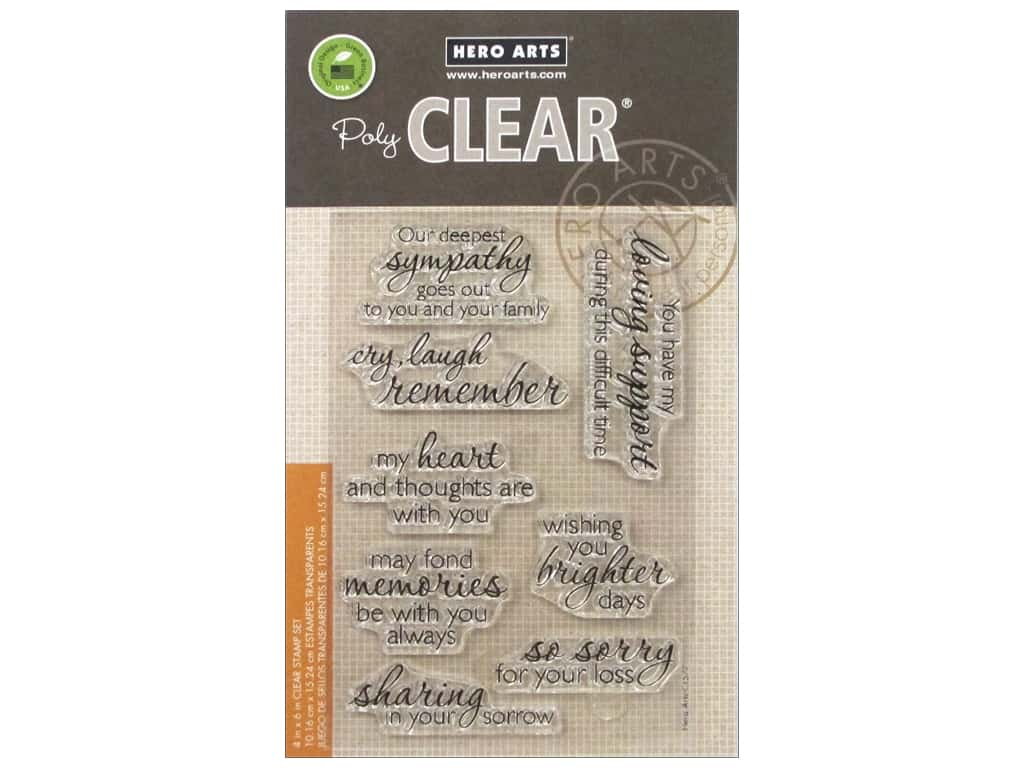 Hero Arts Poly Clear Stamps Remember